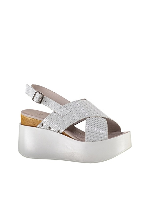 Elle Platform Dolgu Topuk Ayakkabı Beyaz